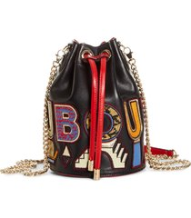 christian louboutin marie jane alpha embroidered calfskin leather bucket bag - (nordstrom exclusive)