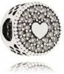 berloque lua pratas separador pavê corações prata