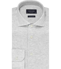 profuomo originale overhemd grijs melange knitted