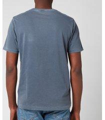 parajumpers men's patch logo t-shirt - flint stone - xl