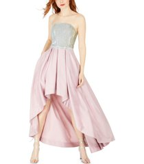 speechless juniors' glitter-top high-low gown, created for macy's