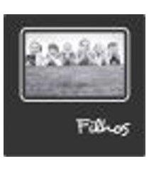 porta retrato plaquet filhos para 1 foto 10x15 preto kapos