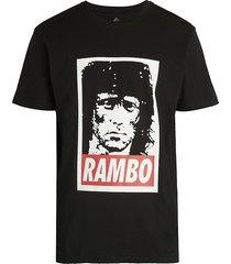 american stitch men's rambo graphic t-shirt - black - size l
