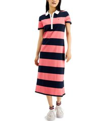 tommy hilfiger colorblocked polo dress