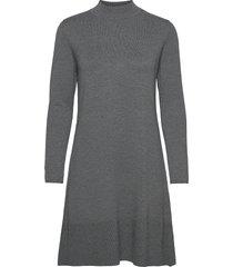 dresses flat knitted korte jurk grijs esprit collection