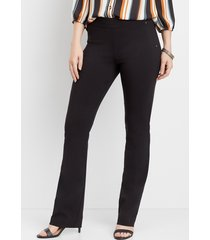 maurices womens black pull on bengaline bootcut pants