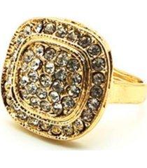 anillo cuadrado dorado i-d