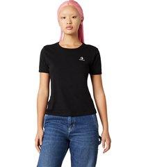 converse camiseta slim black