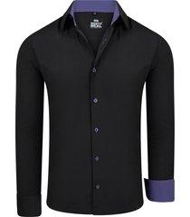 rusty neal heren overhemd black series lila