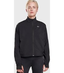 chaqueta reebok re wind jacket negro - calce holgado