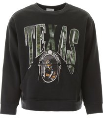 rhude texas sweatshirt with patches