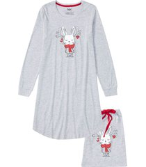 camicia da notte con sacchetto regalo (grigio) - bpc bonprix collection