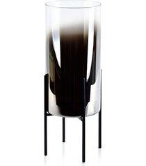 lampion świecznik szklany na stojaku ombre