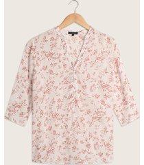 blusa pechera corta manga 3/4 estampada-l