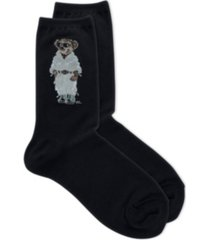 polo women's safari polo bear crew socks