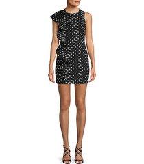 dot-print sheath dress