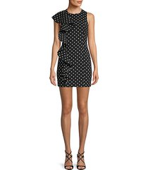 dot-print sheath dress