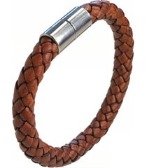 suki men's braided leather 8mm bracelet