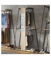 estante roupeiro industrial com espelho tog be mobiliário