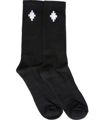 marcelo burlon cross sideway socks