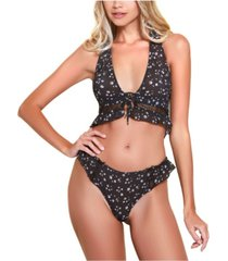 hauty halter bralette and underwear 2pc set, online only