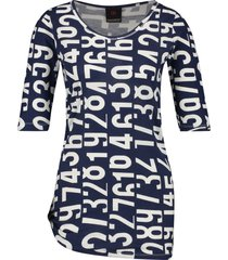 penn & ink s19f508 508-08 ny jurk all over print indigo cotton