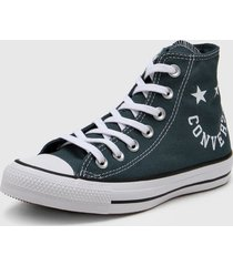 zapatilla azul converse chuck taylor as hi faded