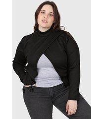 sweater negro minari nicole plus size