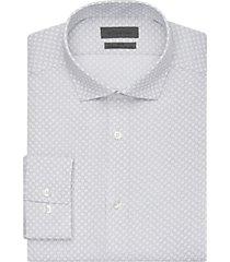 calvin klein gray print dot slim fit dress shirt