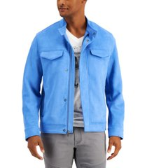 inc men's louis faux-suede jacket, created for macy's