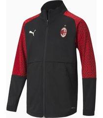 ac milan stadium voetbaljack jongeren, rood/zwart, maat 116 | puma