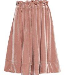 moose velvet knälång kjol rosa line of oslo