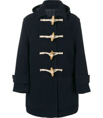 ami patched pockets duffle coat - blue