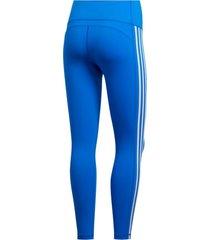 legging adidas bt 3s 78 t azul - azul - feminino - dafiti