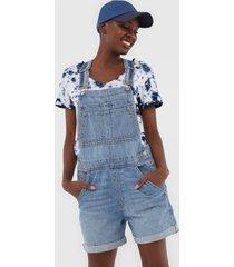 macaquinho jeans gap lt sahara azul