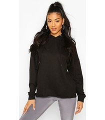 basic oversized hoodie, black