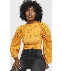 blusa colcci multicolor - calce holgado