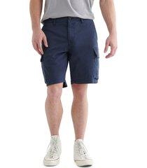 men's lucky brand stretch cargo shorts, size 38 - blue