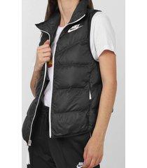 colete dupla face nike sportswear w nsw dwn fill vest ltwt preto