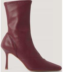 na-kd shoes stövlar med spetsig tå - red