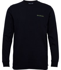 casual long sleeve tee t-shirts long-sleeved blå han kjøbenhavn