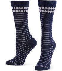 hue women's compression crew socks