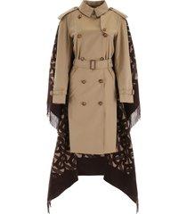 burberry trench coat with monogram cape