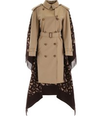 burberry trench coat with monogram cape