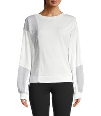 grey state women's cerise sweatshirt - white - size l