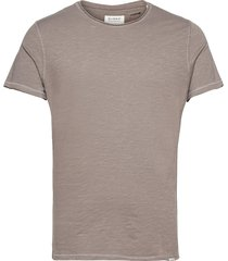 konrad slub s/s tee t-shirts short-sleeved brun gabba