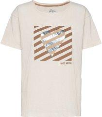 classy o-ss tee t-shirts & tops short-sleeved creme mos mosh