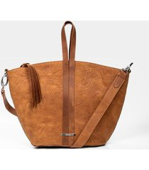 bolso para mujer tipo shopping de cuero placa