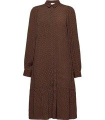 elaygz short dress ma20 jurk knielengte bruin gestuz