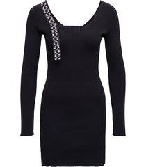 off-white black stretch fabric arrows dress
